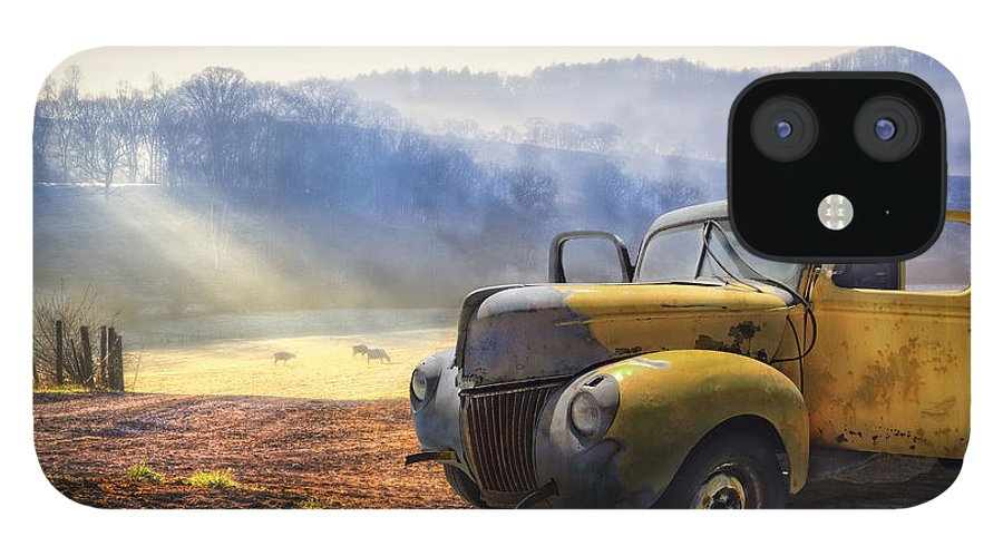 Appalachia iPhone 12 Case featuring the photograph Ford in the Fog by Debra and Dave Vanderlaan