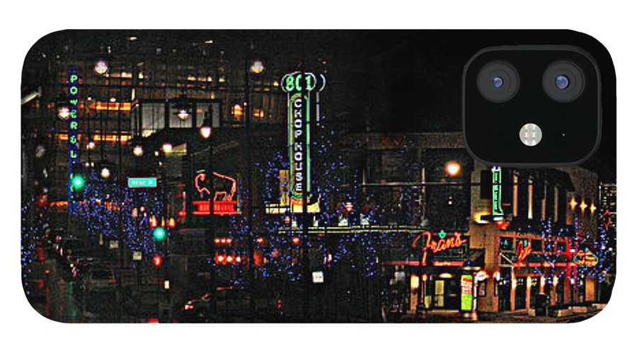 City Scape iPhone 12 Case featuring the photograph Fourteenth and Main by Steve Karol