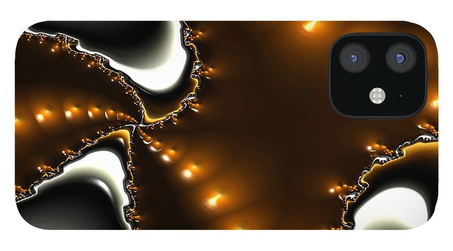 Nest Eggs Fractals Jewels IPhone 12 Case featuring the digital art Fractal 2 by Veronica Jackson