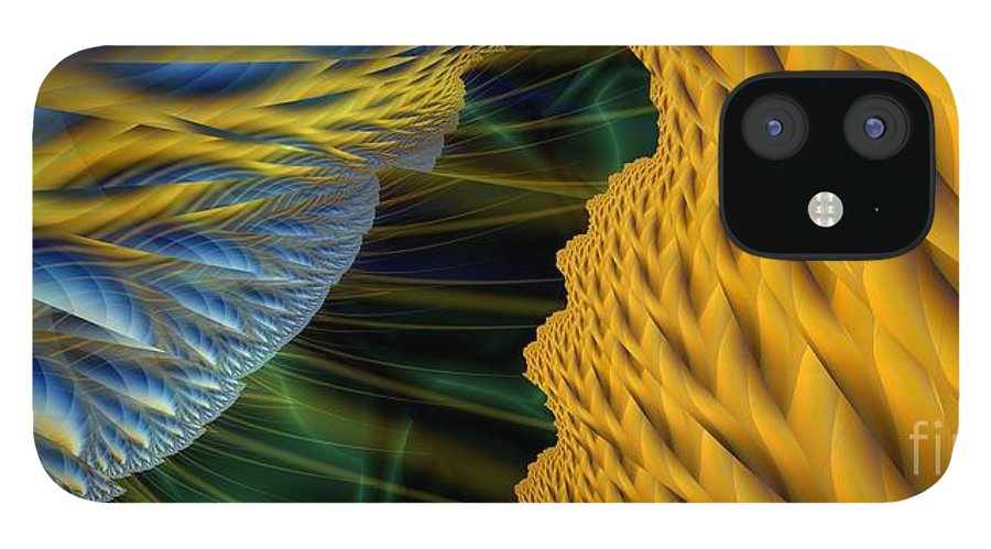 Lightning IPhone 12 Case featuring the digital art Fractal Storm by Ron Bissett