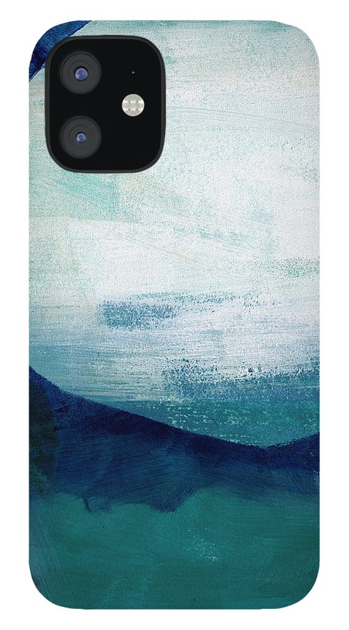 Blue IPhone 12 Case featuring the painting Free My Soul by Linda Woods