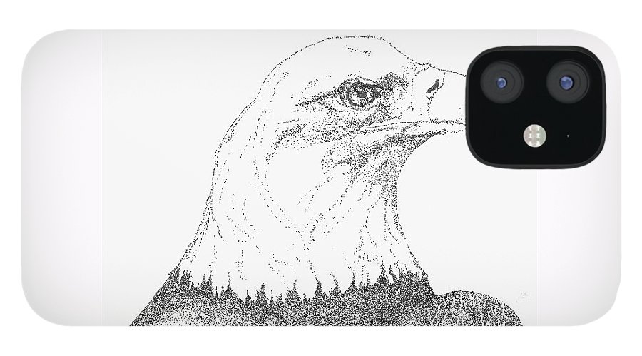 Eagle IPhone 12 Case featuring the drawing Freedom by Debra Sandstrom