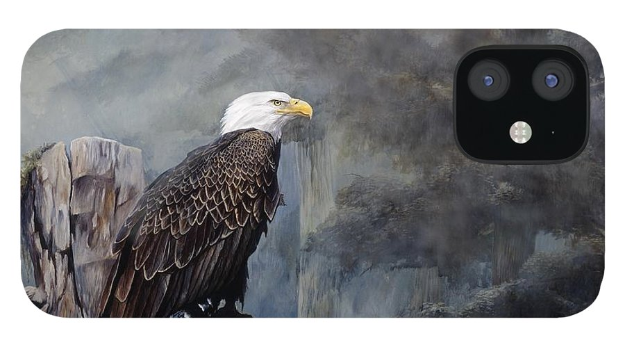 Eagle Art IPhone 12 Case featuring the painting Freedom Haze by Steve Goad