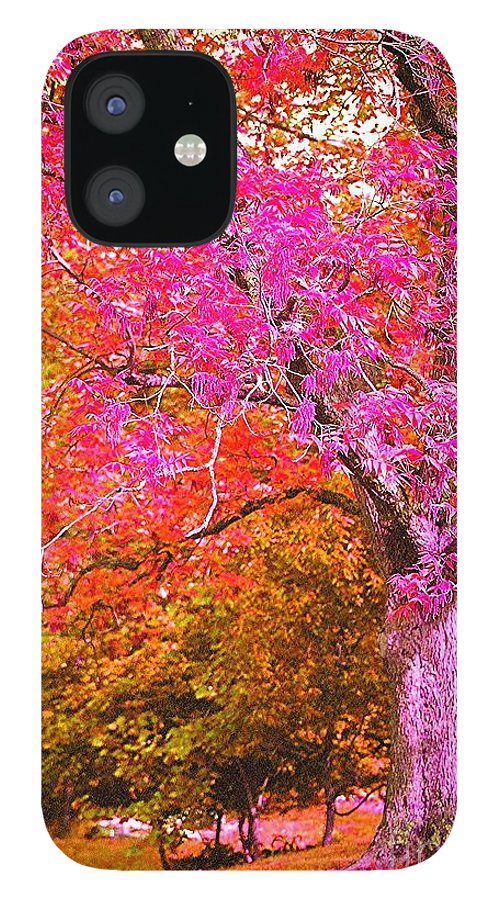 Fuschia IPhone 12 Case featuring the photograph Fuschia Tree by Nadine Rippelmeyer