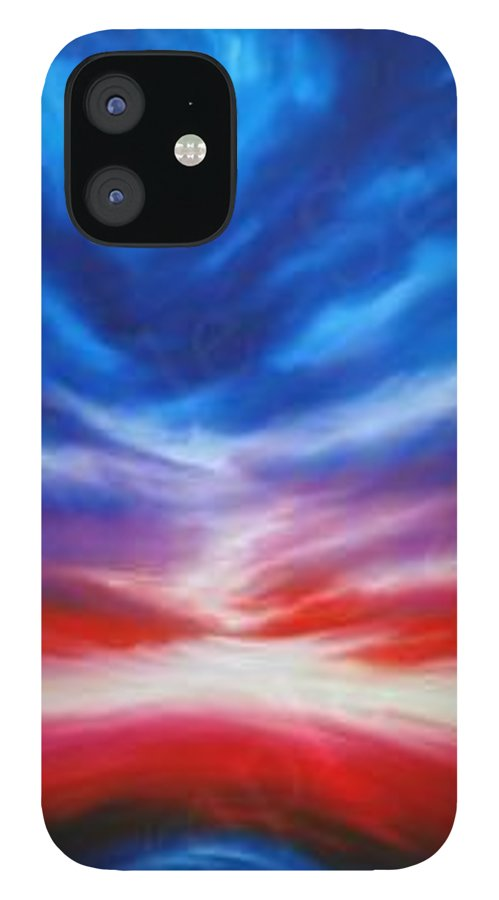 Tempest IPhone 12 Case featuring the painting Genesis III by James Christopher Hill
