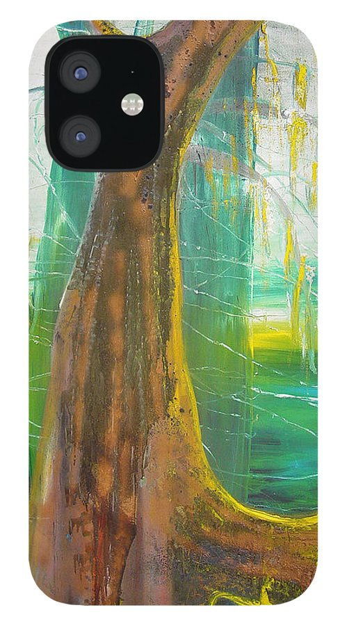 Landscape IPhone 12 Case featuring the painting Georgia Morning by Peggy Blood