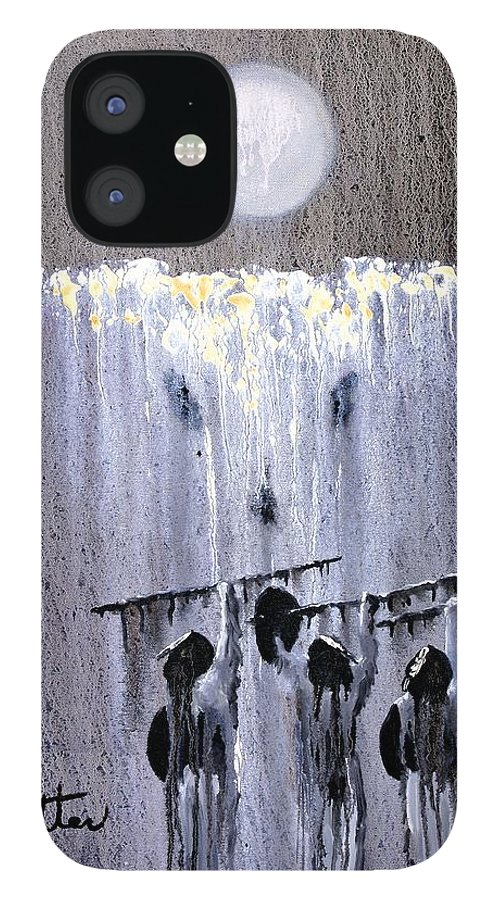 American Indian IPhone 12 Case featuring the painting Ghost Dance by Patrick Trotter