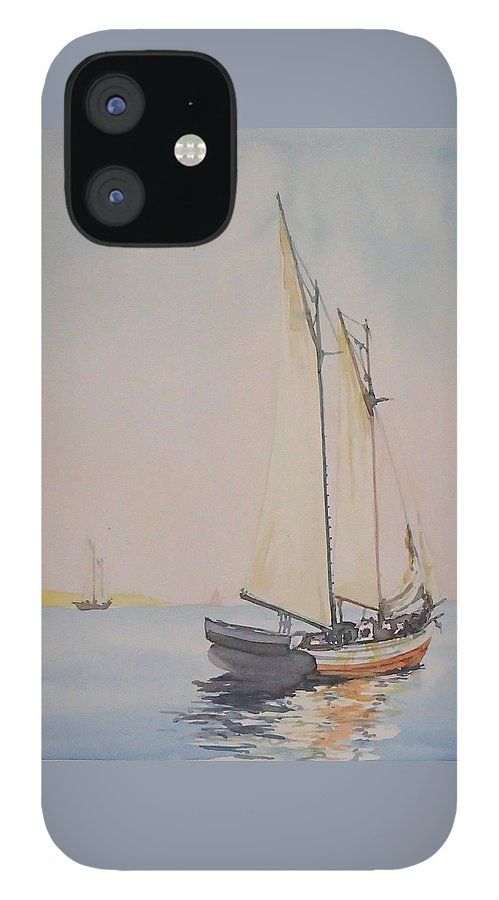 Sailing IPhone 12 Case featuring the painting Ghosting Up by Philip Fleischer