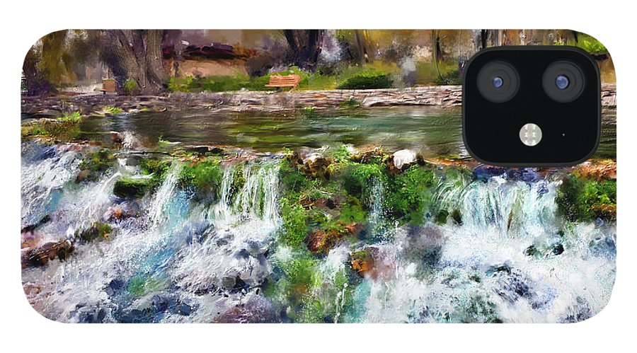 Giant Springs IPhone 12 Case featuring the digital art Giant Springs 1 by Susan Kinney