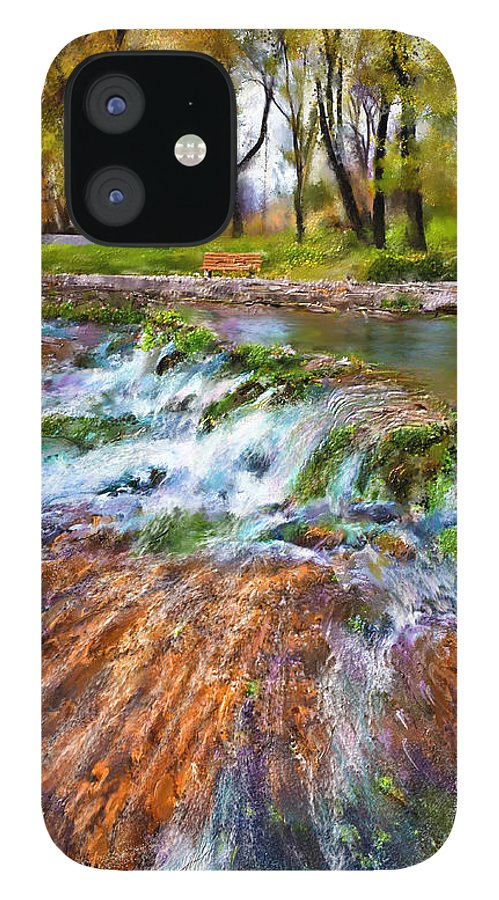 Giant Springs IPhone 12 Case featuring the digital art Giant Springs 2 by Susan Kinney