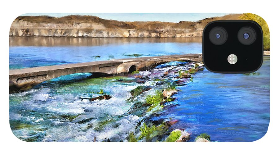 Giant Springs IPhone 12 Case featuring the digital art Giant Springs 3 by Susan Kinney