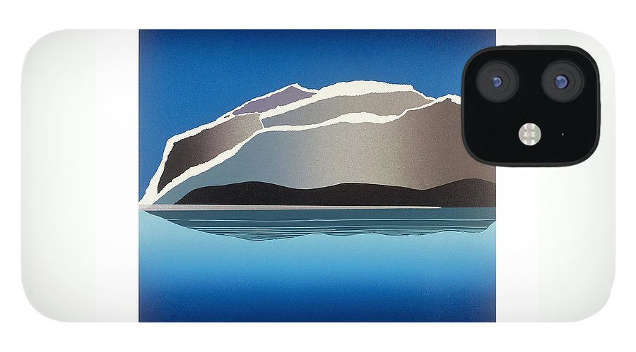 Landscape IPhone 12 Case featuring the mixed media Glaciers by Jarle Rosseland