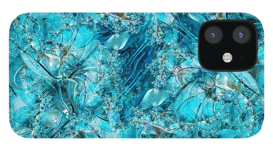 Collage IPhone 12 Case featuring the digital art Glass Sea by Ron Bissett