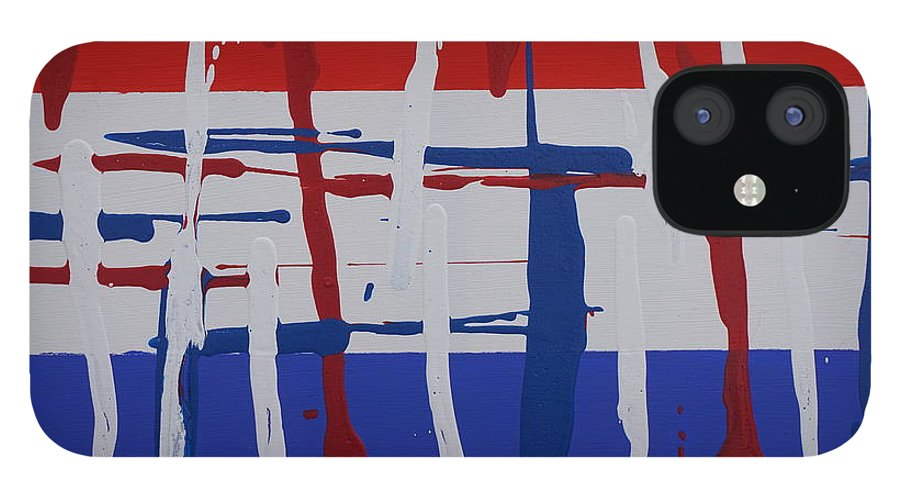 Abstract IPhone 12 Case featuring the painting Glory by Jimmy Clark