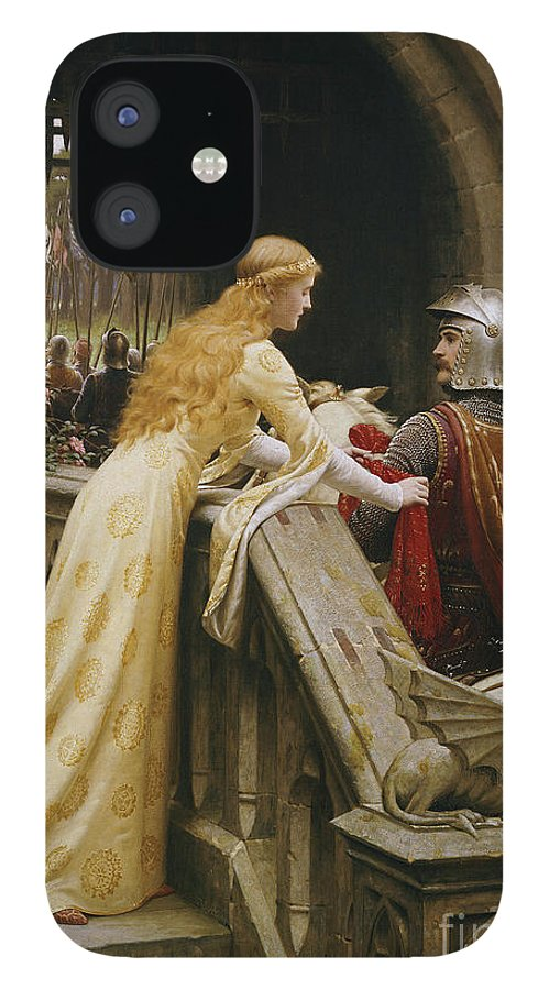 God Speed IPhone 12 Case featuring the painting God Speed by Edmund Blair Leighton