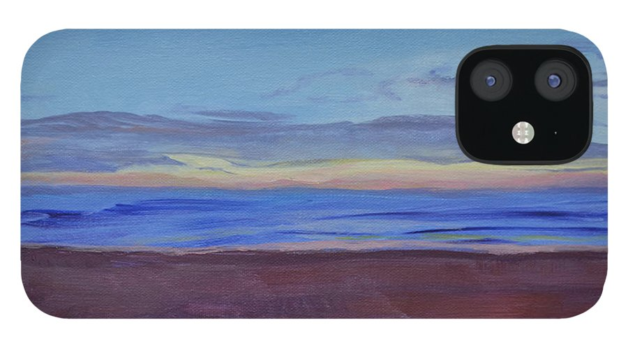 Beach IPhone 12 Case featuring the painting Graham's Beach by Mary Chant