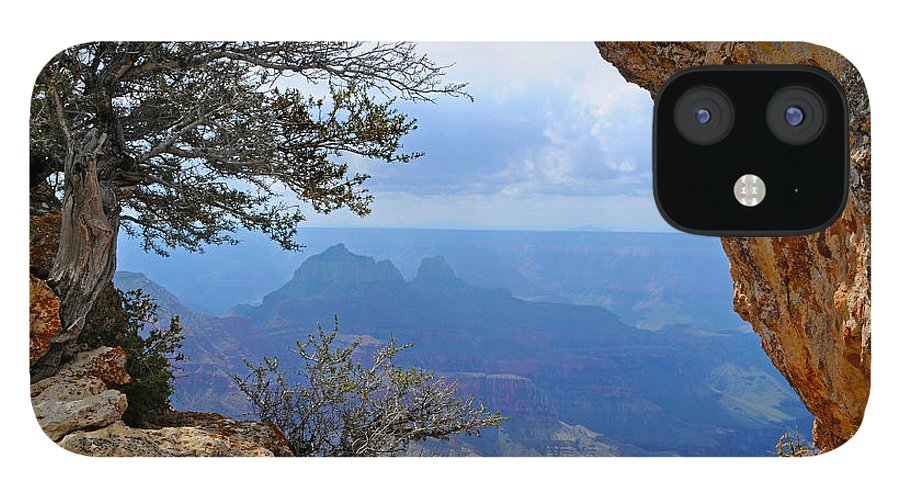 Grand Canyon North Rim IPhone 12 Case featuring the photograph Grand Canyon North Rim Window in the Rock by Victoria Oldham