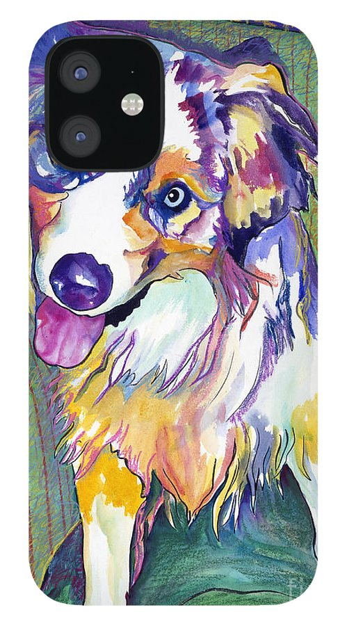 Pat Saunders-white IPhone 12 Case featuring the painting Green Couch  by Pat Saunders-White