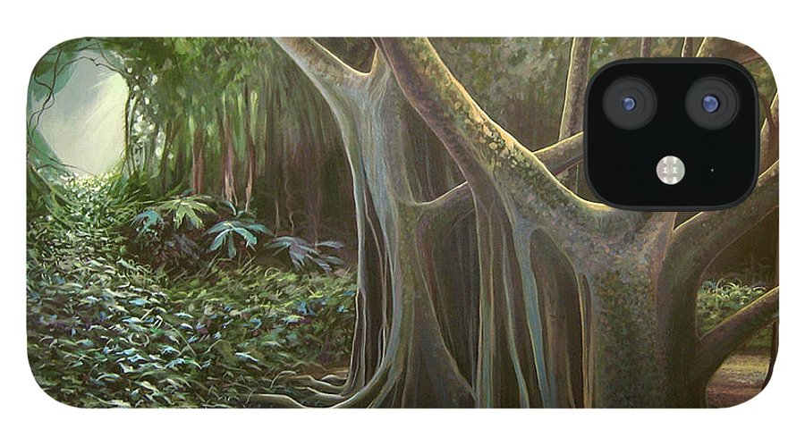 Barbados IPhone 12 Case featuring the painting Green Mansions by Hunter Jay
