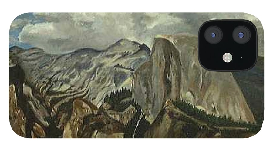 IPhone 12 Case featuring the painting Half Dome by Travis Day