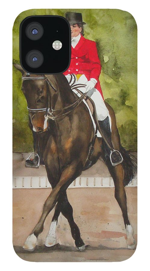 Horse IPhone 12 Case featuring the painting Half-Pass To The Right by Jean Blackmer