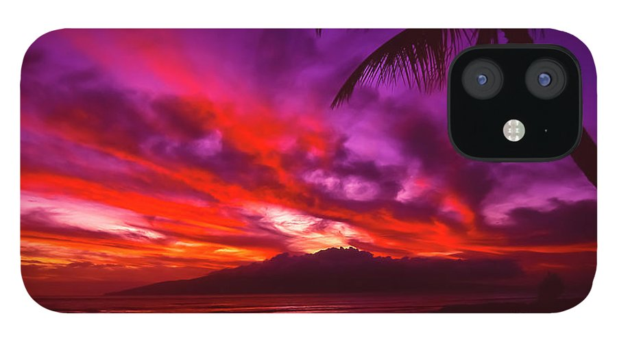 Landscapes IPhone 12 Case featuring the photograph Hand of Fire by Jim Cazel