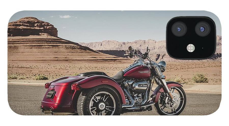 Harley-davidson Freewheeler IPhone 12 Case featuring the digital art Harley-Davidson Freewheeler by Super Lovely