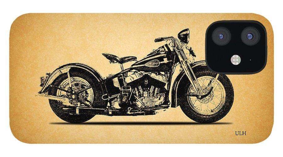 Harley Davidson Ulh IPhone 12 Case featuring the photograph Harley Davidson ULH 1941 by Mark Rogan