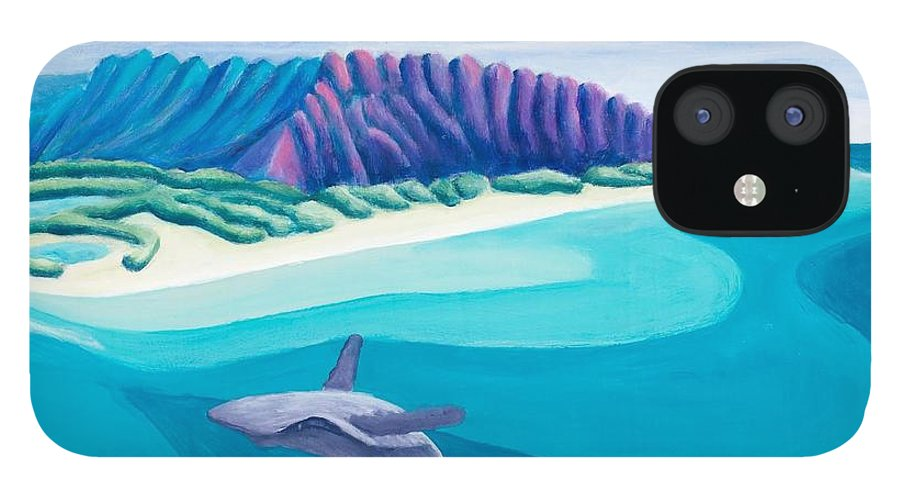 Landscape IPhone 12 Case featuring the painting Hawaiian Playground by Lynn Soehner