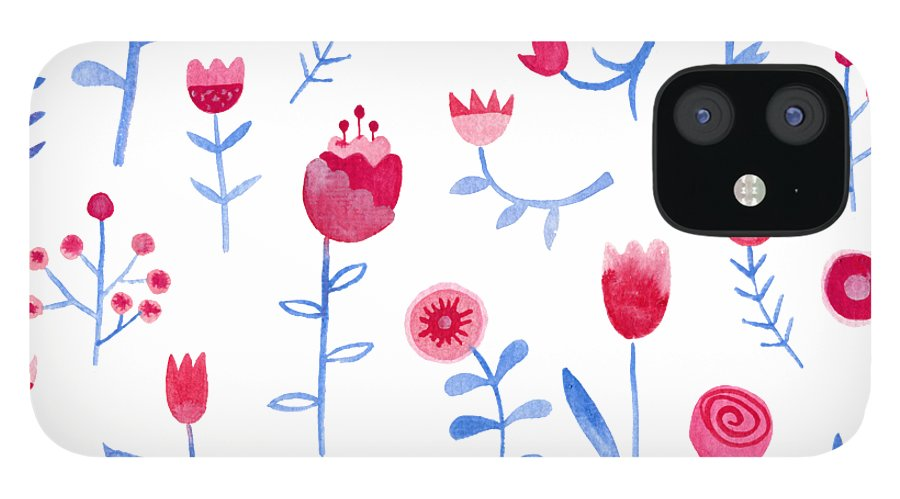 Watercolor IPhone 12 Case featuring the painting Hayfever by Nic Squirrell