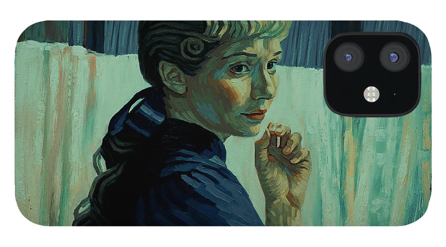 IPhone 12 Case featuring the painting He Was Happy Here by Maryna Savchenko