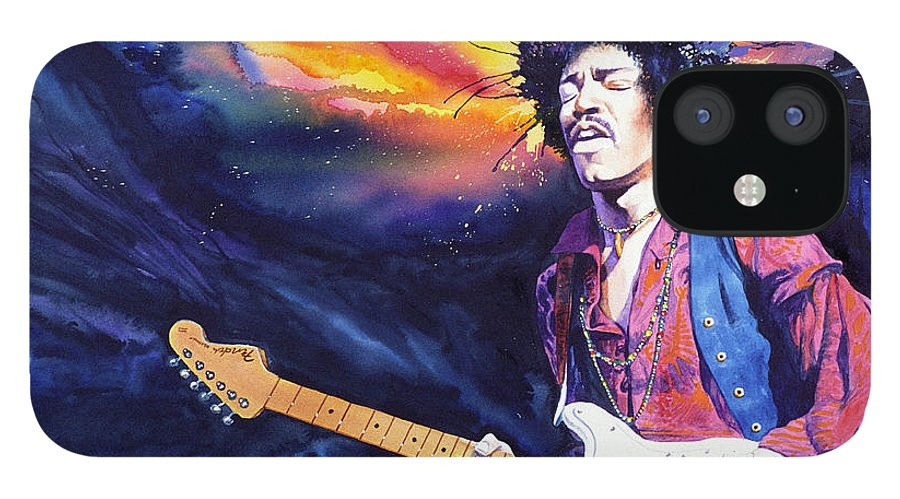 Jimi Hendrix IPhone 12 Case featuring the painting Hendrix by Ken Meyer jr