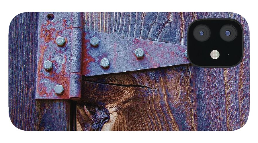 Hinge IPhone 12 Case featuring the photograph Hinged by Debbi Granruth