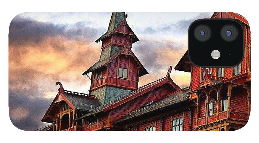 House IPhone Case featuring the photograph Holmenkollen hotell by Torbjorn Schei