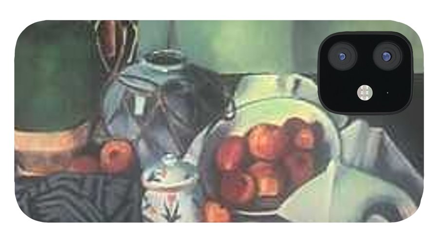 Still Life With Apples IPhone 12 Case featuring the painting Homage to Cezanne by Steven Casey