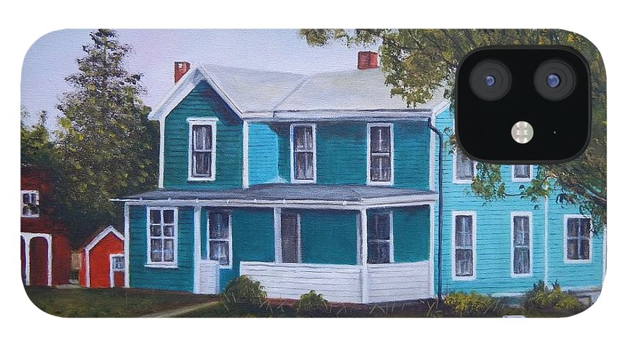 Seward House IPhone 12 Case featuring the painting House in Seward by Anne Kushnick