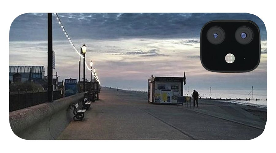 Beautiful IPhone 12 Case featuring the photograph Hunstanton At 5pm Today  #sea #beach by John Edwards