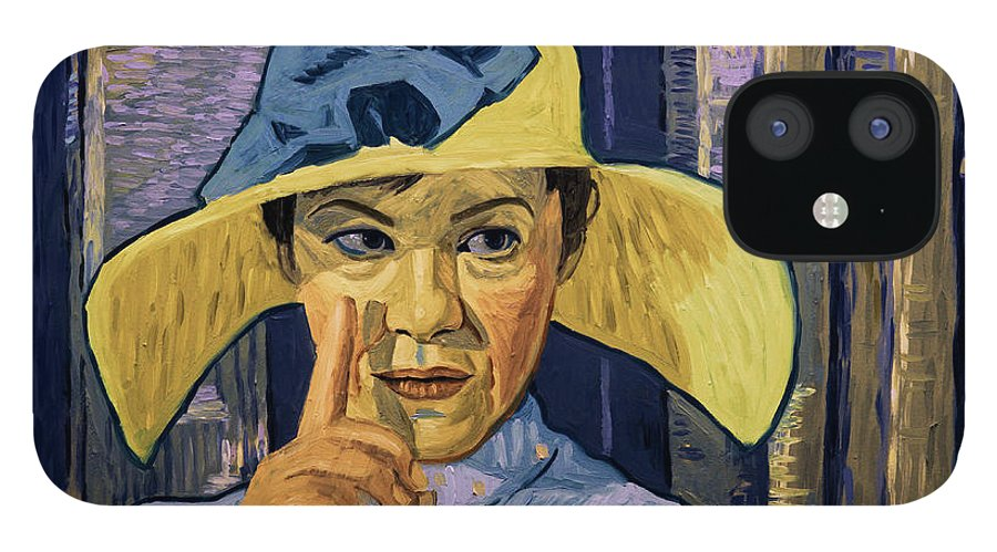 IPhone 12 Case featuring the painting I Could See The Fever in His Eyes by Andrii Makedon