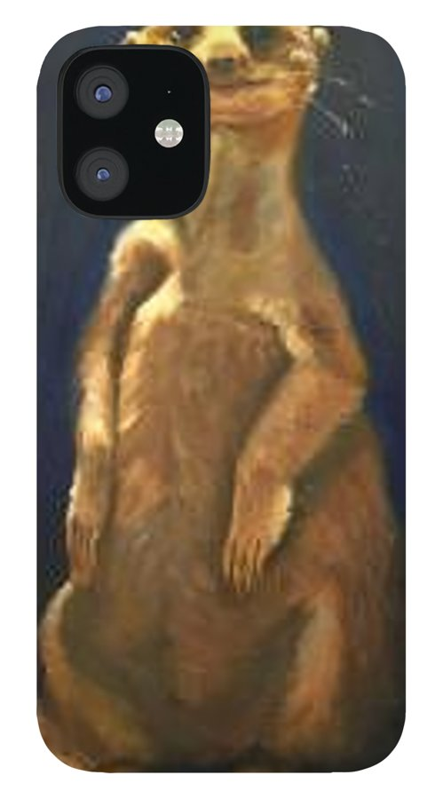 For Availability And Prices Of Limited Edition Prints/giclees IPhone 12 Case featuring the painting I See You by Greg Neal
