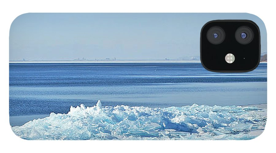 Lake Superior Shore Ice IPhone 12 Case featuring the photograph Ice On The Rocks by Bill Morgenstern