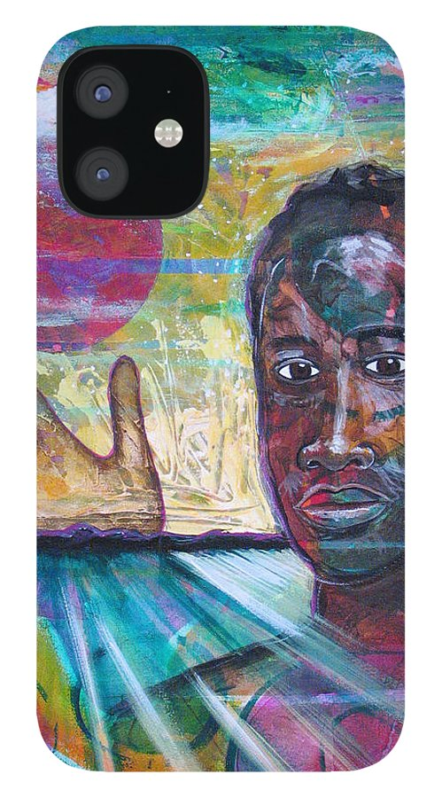 African-american IPhone 12 Case featuring the painting If I... by Rollin Kocsis