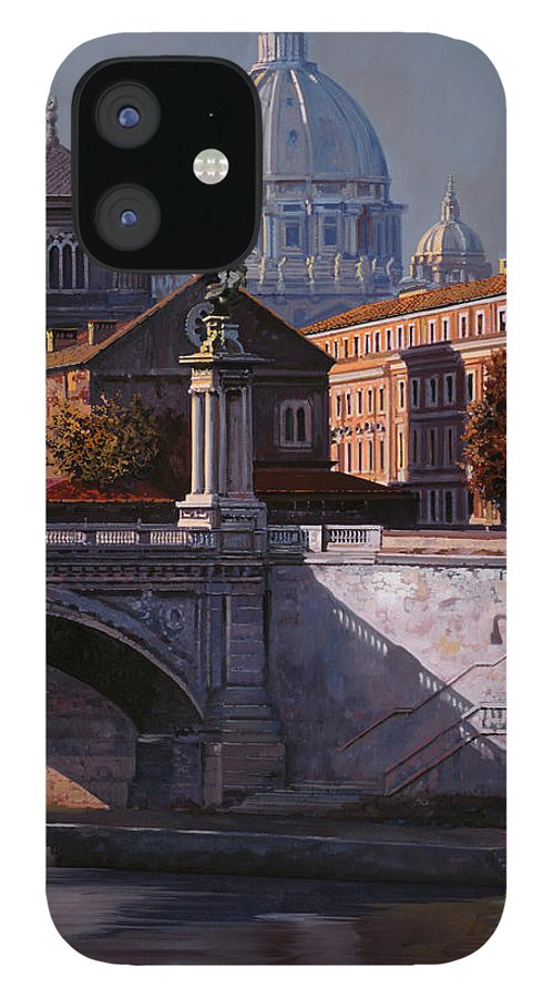 Rome IPhone 12 Case featuring the painting Il Cupolone by Guido Borelli