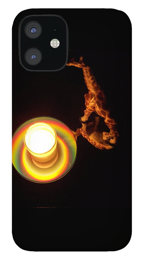 Giraffe IPhone 12 Case featuring the photograph Illuminated Objects by Michelle Miron-Rebbe