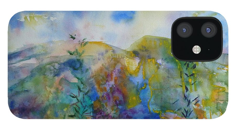 Vibrant IPhone 12 Case featuring the painting Illumination by Phoenix Simpson