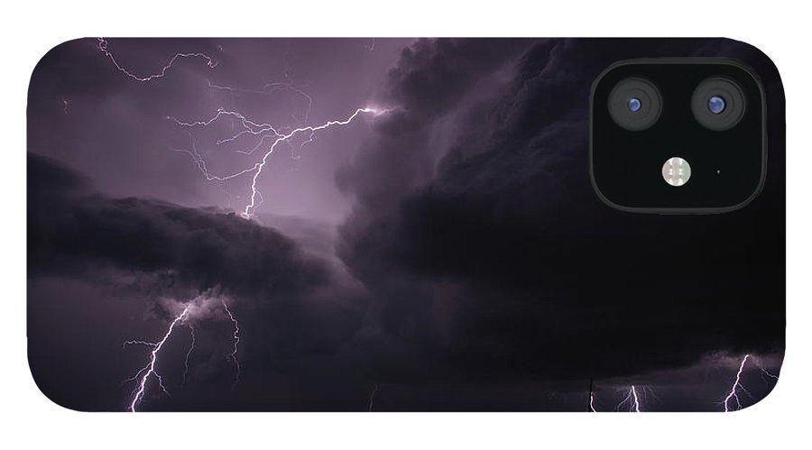 Lightning IPhone 12 Case featuring the photograph Impressive Lightning by Francis Lavigne-Theriault