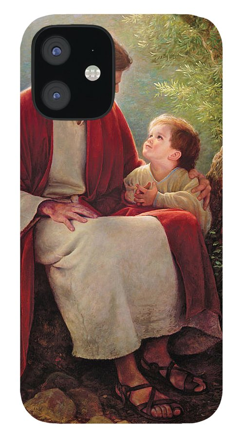 Jesus iPhone 12 Case featuring the painting In His Light by Greg Olsen