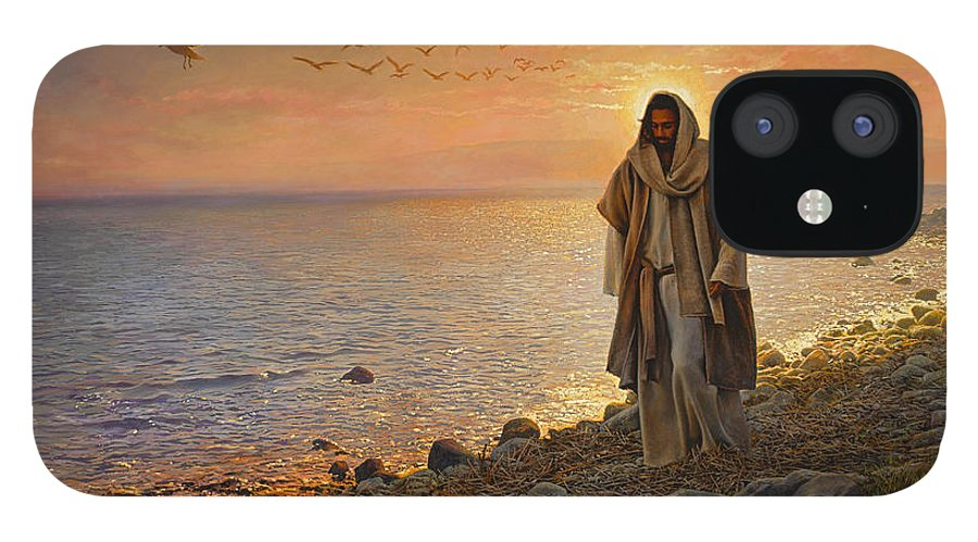 Jesus iPhone 12 Case featuring the painting In the World Not of the World by Greg Olsen