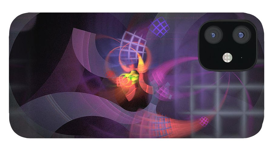 Graceful IPhone 12 Case featuring the digital art In The Year Of The Tiger - Fractal Art by Nirvana Blues