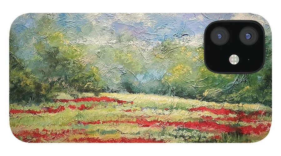 Clover Pastures IPhone 12 Case featuring the painting Into the Clover by Ginger Concepcion