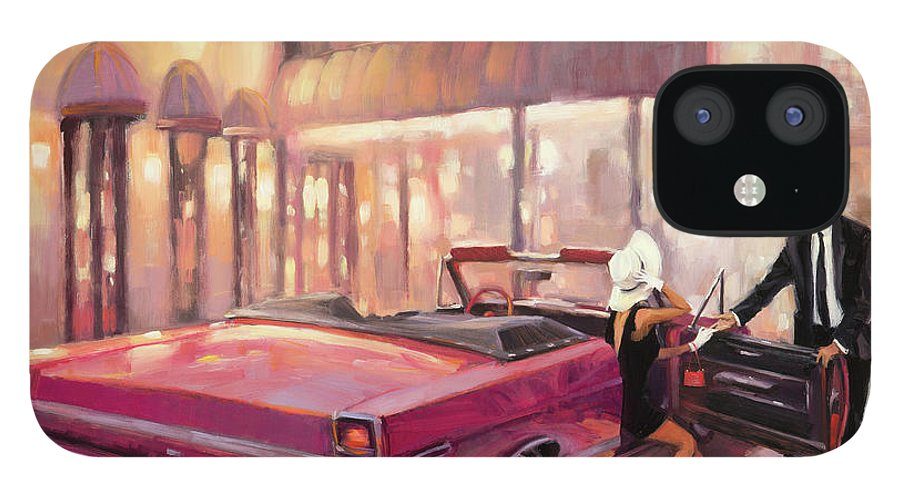 Romance IPhone 12 Case featuring the painting Into You by Steve Henderson